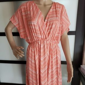 Love Cameron Dress 3x Maxi dress salmon pink NEW